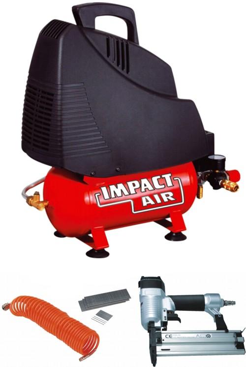 kompressor montagekompressor tragbar lfrei spiralschlauch und druckluftnagler. Black Bedroom Furniture Sets. Home Design Ideas