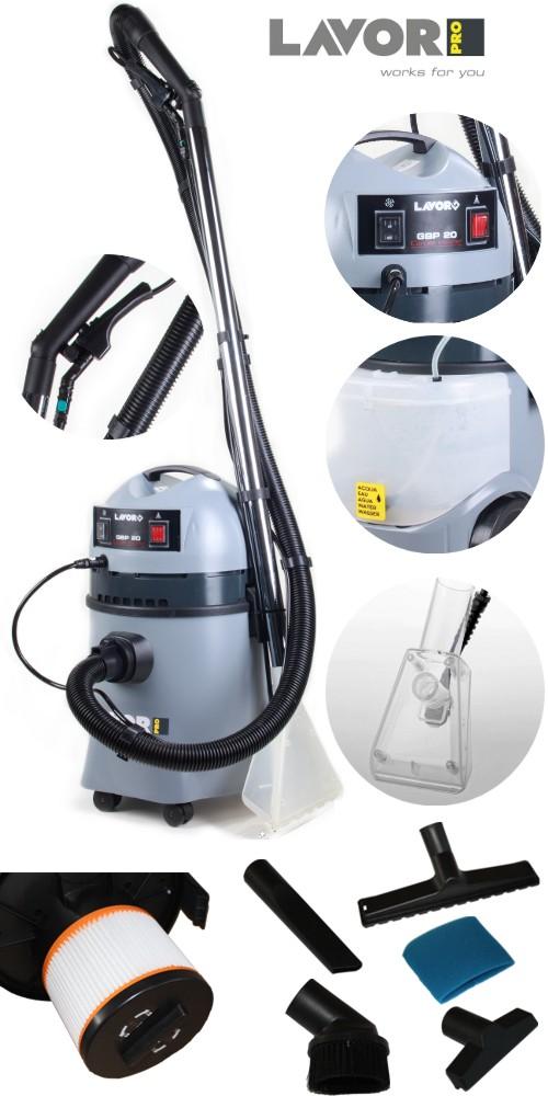 Waschsauger-Teppichreiniger-Kombisauger-8-BAR-LAVOR-WASH-PROFI-Geraet-Feinfilter